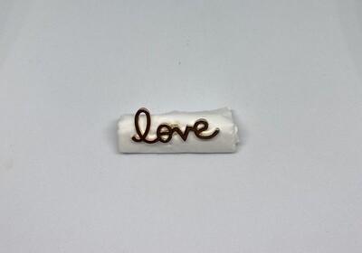 Pin - love - goud
