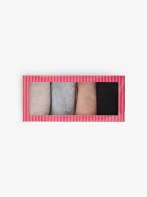 Sokken - RHONA - glittersokjes in een box van 4