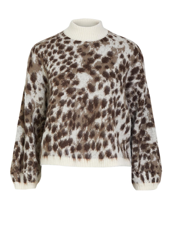 (*) Knitwear trui - SKY - leopard