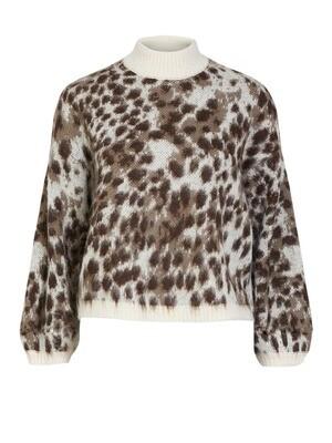 Knitwear trui - SKY - leopard