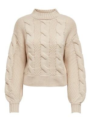 Knitwear - JULIA  - grof gebreide kabeltrui - beige