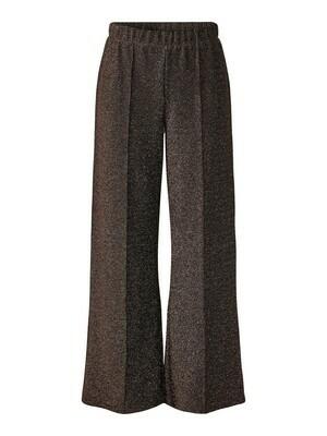 Wijde lange broek - RINA - bruin