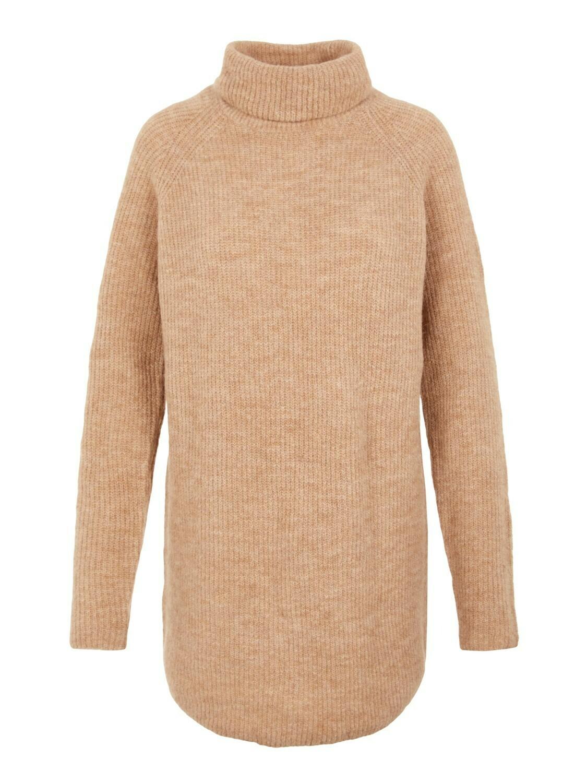 (*) Knitwear lange trui - ELLEN - beige