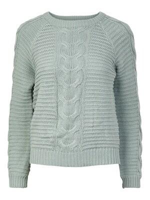 (*) Knitwear trui - REBECCA - grijsgroen