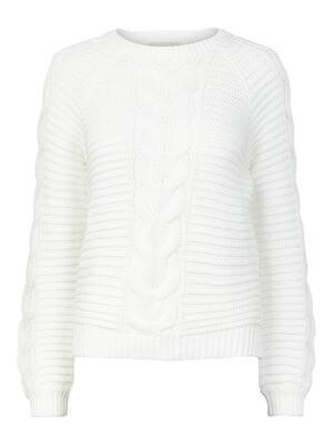 (*) Knitwear trui - REBECCA - wit