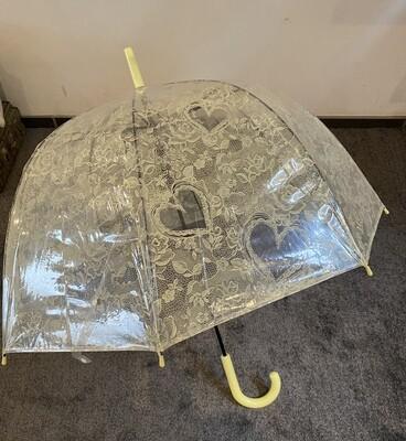 Paraplu - JOHANNA - motief zachtgeel