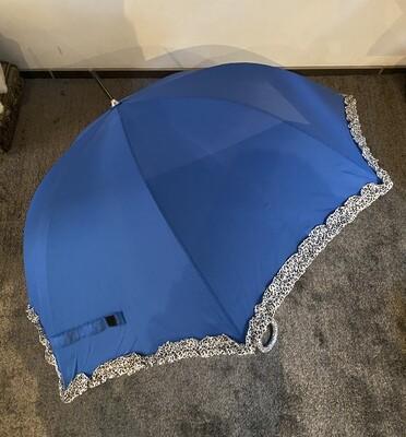 Paraplu - JOANIE - blauw/leopard