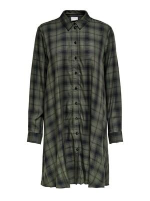 (*) Korte hemdjurk - PENNY ABIGALE - groen/zwart geruit