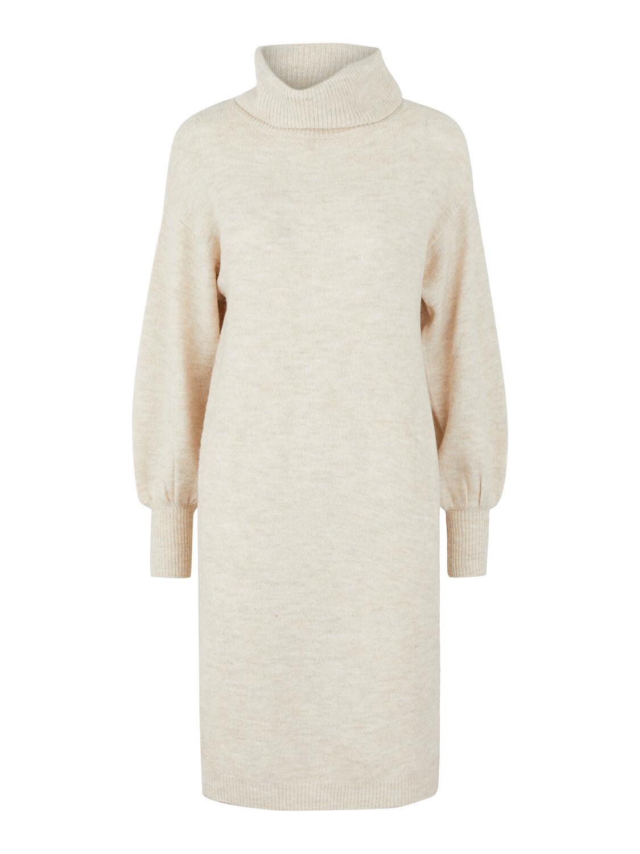 Knitwear midi jurk - TIANA - beige