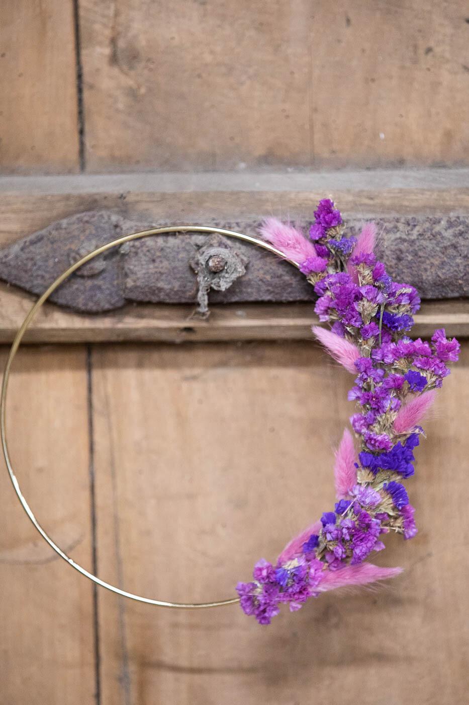 13 - Droogbloemen - flowerhoop S - keuze 4