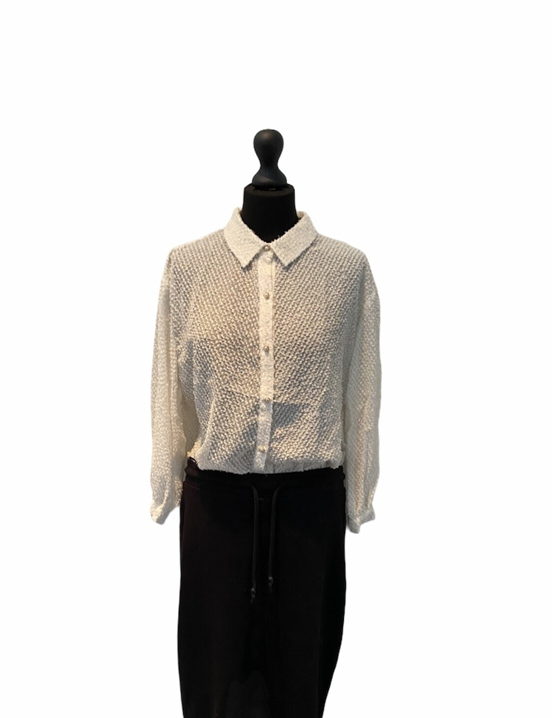 Blouse - LINDE - wit/gouden draad
