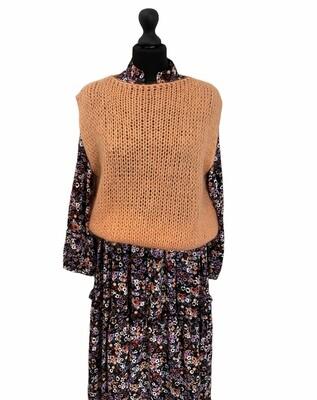 Knitwear debardeur - DEBORA - koraal