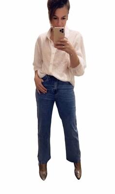 Rechte wijde jeans - ROSALIE - medium blue