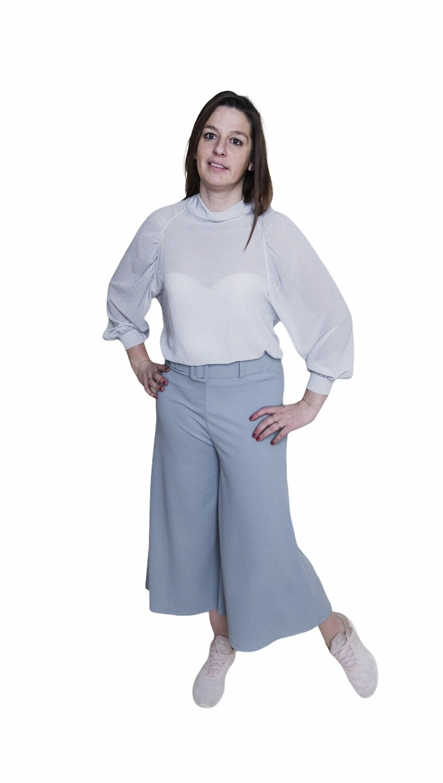 Blouse - ODILIA - wit/blauw