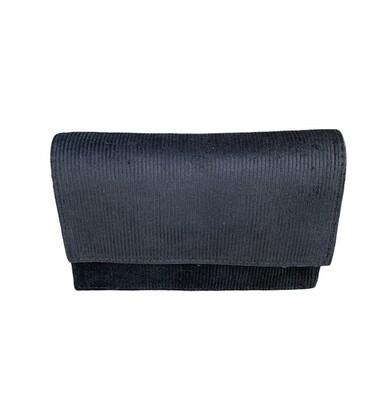 Handtasriem/clutch suède - LAUREN - zwart