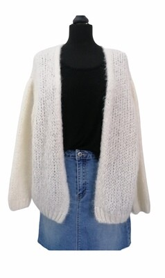 Knitwear korte vest - BERNADETTE - wit