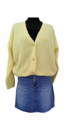 Knitwear korte vest - KLAARTJE - geel