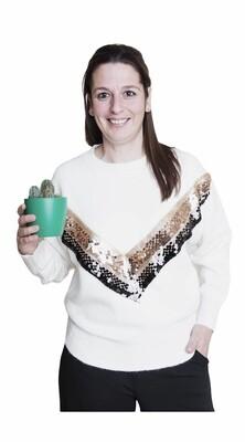 Knitwear trui - EMILIA - wit