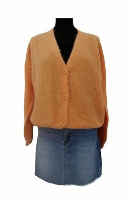 Knitwear korte vest - KLAARTJE - oranje