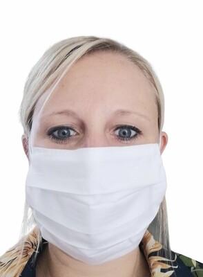 Mondmasker - LISA - wit (ook voor mannen)