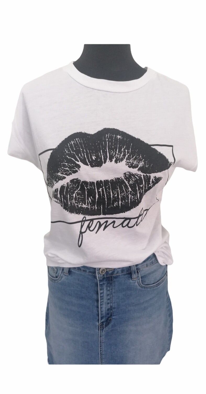 T-shirt met korte mouwen - KELSEY - wit
