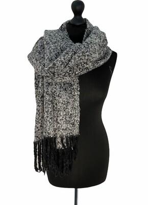 Wintersjaal - JERA - zwart/wit