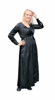 Maxi jurk - ELLA -zwart satijnlook