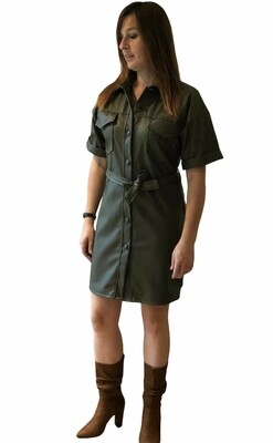 Korte jurk - ANNELIES - kaki