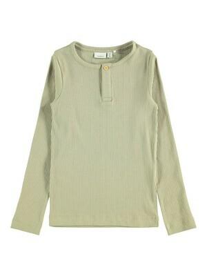 (*) KIDS T-shirt met lange mouw - KABILLE - groen beige