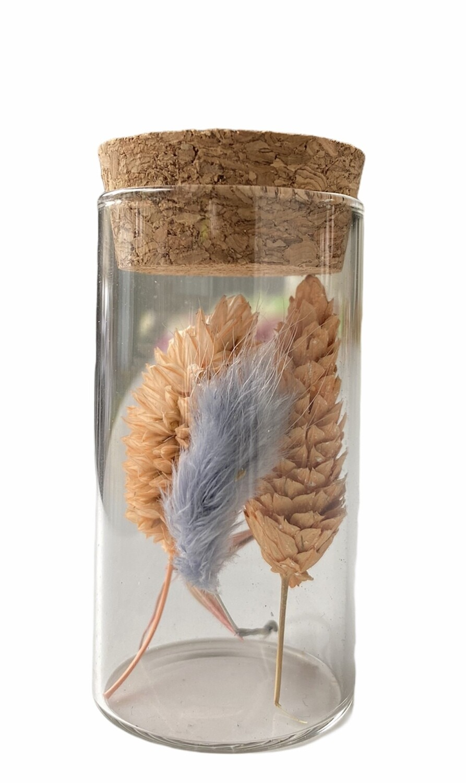 14 - Droogbloemen in glazen buisje - keuze 11