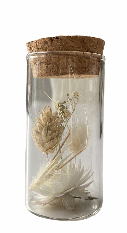 14 - Droogbloemen in glazen buisje - keuze 7