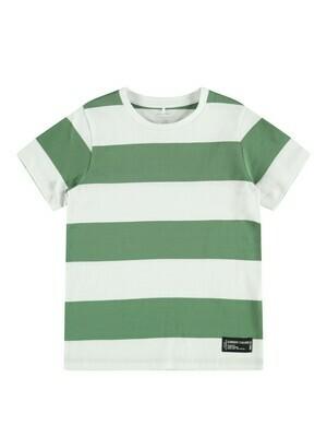KIDS T-shirt - SAND - wit/kaki