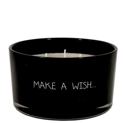 Kaars met tekst 'MAKE A WISH'
