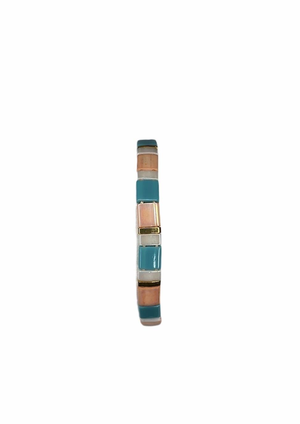 KIDS Armbandje - LIZZY - multicolor peach/turquoise