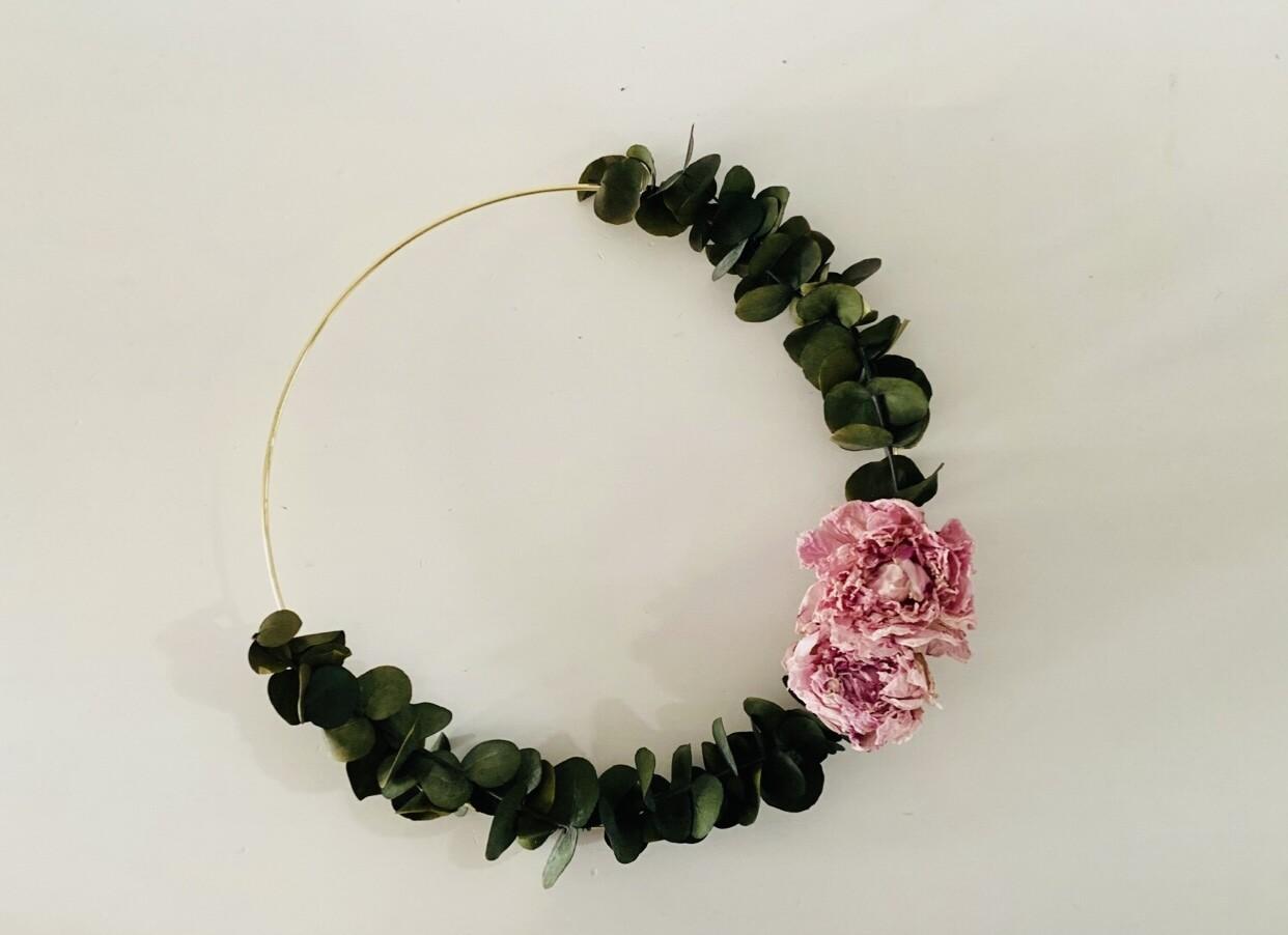 13 - Droogbloemen - flowerhoop medium- keuze 3