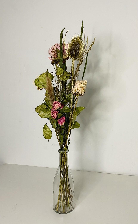 08 -  Droogbloemen met vaas L - keuze 1