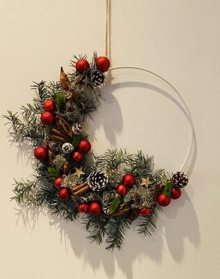 13 - Flowerhoop medium - keuze 6  kerstkrans