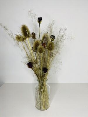 06 - Droogbloemen met vaas M - keuze 4