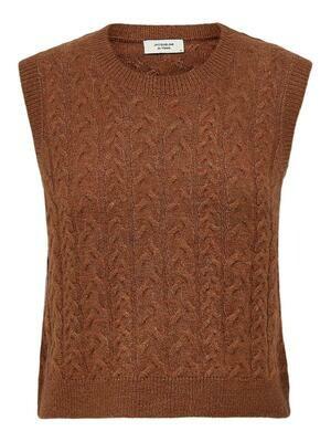 Knitwear debardeur - RACHEL - roest (melange)