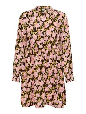 Korte jurk - CARMEN - zwart/roze