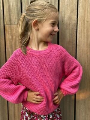 KIDS Trui - LAYSLA - fel roze