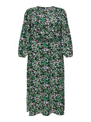 + Midi jurk - ANEMONY - zwart/paars/groen