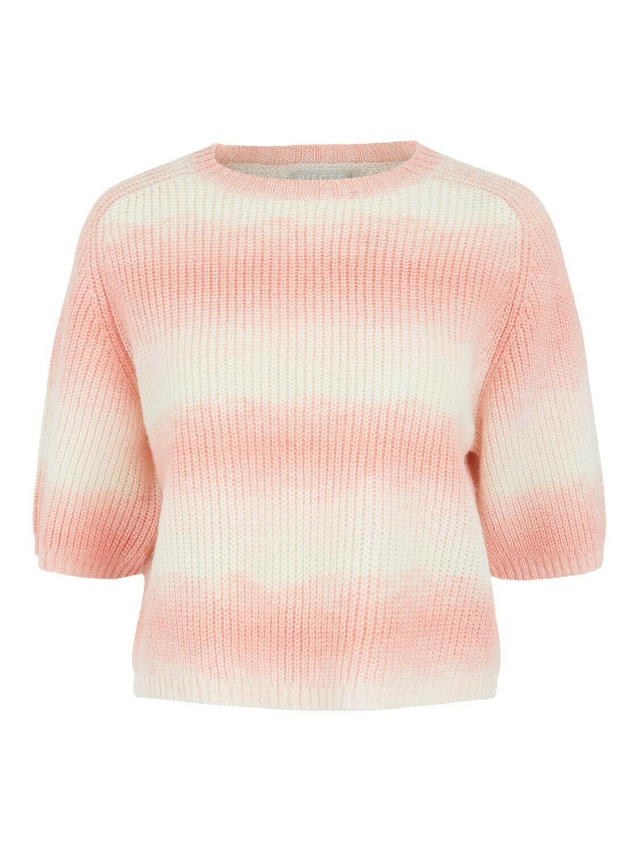Trui knitwear - GOYA - koraal/wit