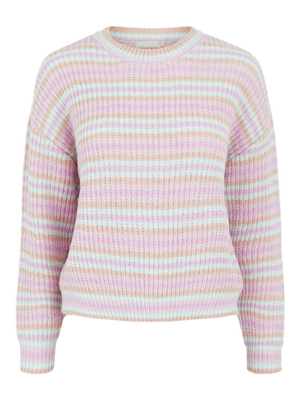 Trui - GINA - lichtblauw/roze/paars