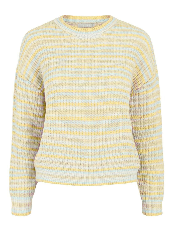 Trui knitwear - GINA - geel/wit/groen