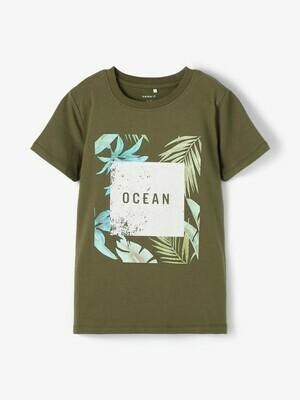 KIDS T-shirt - FACER - donker kaki