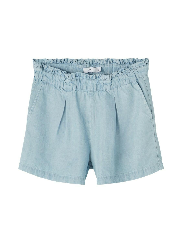 *  KIDS Broek jeansshort - BECKY - light blue