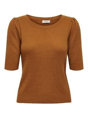 Knitwear top - LINA - bruin