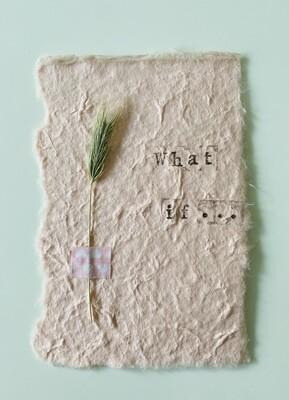 26 - wenskaart droogbloemen - WHAT IF... - poederroze