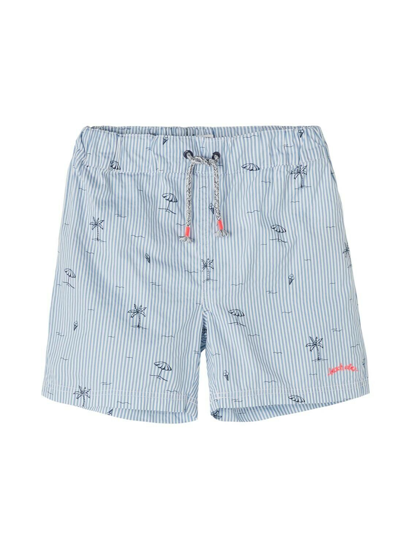 KIDS Zwemshort - ZIKKON - wit/blauw gestreept